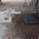 Das alte Bohrloch - geschlossen, keine Pumpe